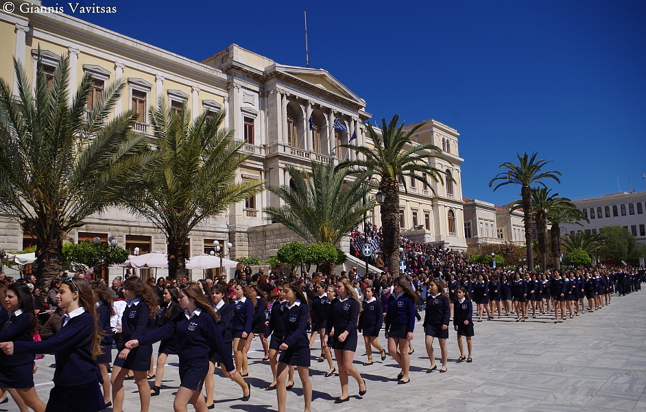 Parade for the 28th of October anniversary in Syros